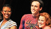 Christina Sajous, Rebecca Faulkenberry and the rest of the company of Spider-Man, Turn Off the Dark are thrilled to celebrate Reeve Carney's big day.