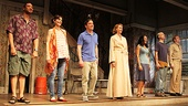 The ensemble cast of Clybourne ParkDamon Gupton, Annie Parisse, Jeremy Shamos, Christina Kirk, Crystal A. Dickinson, Frank Wood and Brendan Griffinis ecstatic to finally bow together on Broadway. 