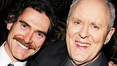 Billy Crudup congratulates fellow Tony winner John Lithgow on a job well done.