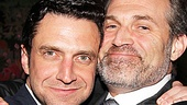 Raúl Esparza gets a hug from his Chitty Chitty Bang Bang co-star Marc Kudisch.