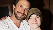 Raúl Esparza wishes the youngest member of Leap of Faith's cast, Talon Ackerman, good luck....