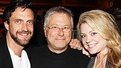 Leap of Faith's Raúl Esparza, Alan Menken and Kendra Kassebaum hit Avatar Recording Studios.
