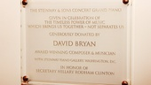David Bryan Grand Piano to State Department – David Bryan Plaque