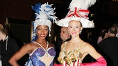 Rockettes Nikki Hester and Megan Levinson show off fashions from the and 1990s and 1960s.