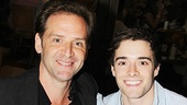 Tony nominee Malcolm Gets and Newsies' Corey Cott get acquainted at the Broadway Flea Market.