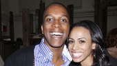 Smash's Leslie Odom, Jr. and Unforgettable's Nicolette Robinson are all smiles on opening night of The Old Man and The Old Moon.