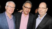 Manager Mark Lonow and Lewis Black celebrate opening night with West Bank Cafe owner Steve Olsen, who hosted the after-party.