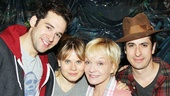 Cathy Rigby fits right in with the eternally youthful cast of Peter and the Starcatcher, (from left) Adam Chanler-Berat, Celia Keenan-Bolger and Matthew Saldivar. 