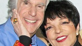 Aww! Good friends and Arrested Development co-stars Henry Winkler and Liza Minnelli can't hide their affection for each other. 