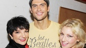 Look who came to the first preview of The Performers! Liza Minnelli congratulates Cheyenne Jackson and Ari Graynor. 