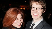 Once's Anne L. Nathan and Broadway vet David Turner rock out at Annie's opening night party at Hard Rock Café.