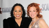 Since Carolee Carmello is on vocal rest, her co-star and friend Roz Ryan helped her with all the opening night interviews.