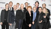 A happy group shot of Denis O'Hare, Neil Patrick Harris, Jeffrey Kuhn, Eamon Foley, Michael Cerveris, Marc Kudisch, Becky Ann Baker, musical director John Weidman, James Barbour, Mario Cantone, Alexander Germignani and Annaleigh Ashford. Congrats to all!