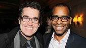 Shrek and Donkey together again! Shrek: The Musical co-stars Brian d'Arcy James and Daniel Breaker reunite at the Friedman.