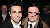 Old pals Mario Cantone and Nathan Lane are looking sharp at the after-party.