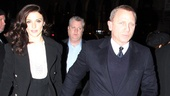 Hollywood power couple alert! Rachel Weisz (who starred in Cat director Rob Ashford's London production of A Streetcar Named Desire) dashes into the theater with her husband, Broadway alum and James Bond star Daniel Craig.