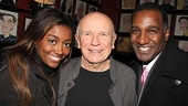 At Sardi's, Terrence McNally congratulates Patina Miller and Norm Lewis on their performances as Sarah and Coalhouse.