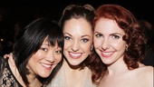 Laura Osnes poses with stepsisters Ann Harada and Marla Mindelle. What a trio!
