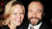 Danny Burstein gives a squeeze to his real-life leading lady, actress Rebecca Luker.