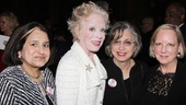 Holland Taylor takes a photo surrounded by former Ann Richards&#39; staffers. From left: Sandra Castellanos (Exec Assistant, New York), Mary Beth Rogers (Chief of Staff, Campaign Manager and friend) and Patricia Smothers (who worked on Ann Richards&#39; campaign).
