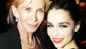 From one English gal to another: Trudie Styler connects on the carpet with Emilia Clarke.