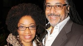 Tony winner Adriane Lenox and her husband Zane Mark enjoy a date night on Broadway.