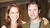 Jenna Fischer and Josh Hamilton play exes Stephanie and Greg, the characters at the center of Reasons To Be Happy.