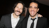 Handsome hunks on Broadway! Graces Paul Rudd yuks it up with Bobby Cannavale (The Big Knife and Glengarry Glen Ross).