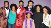 Diana Ross and Rhonda Ross Kendrick congratulate the stunning leads of Motown: Brandon Victor Dixon, Bryan Terrell Clark, Raymond Luke Jr., Charl Brown and Valisia LeKae.