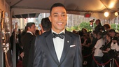 Check out Charl Brown in a Valentino tux with a Tie the Knot bowtie. Sharp!
