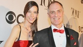 Hayley Dumond escorts her Tony-nominated husband Keith Carradine down the red carpet.