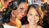 Last year's Tony winner for Best Actress in a Musical Audra McDonald arrives with her daughter Zoe.