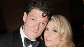 First time winner Gabriel Ebert (Matilda) celebrates with two-time Tony Award winner Judith Light.