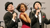 Henry Stram, Anika Noni Rose, and Martin Moran in The Cradle Will Rock.