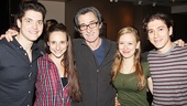 The cast of Bad Jews surround The Winslow Boy headliner Roger Rees.