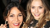 Daphne Rubin-Vega and Elizabeth Olsen grab a gorgeous photo op at the party.