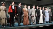 The full company of The Winslow Boy greet the crowd's thunderous applause.