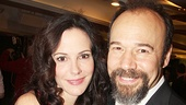 Mary-Louise Parker and Danny Burstein are all smiles at the party at Copacabana.