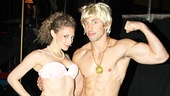 Lauren Molina checks out Nick Adams' rockin' physique after the show. (She looks great, too!)