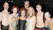 Pippin's Preston Jamieson, Charlotte d'Amboise, Annie Potts, Christopher Sieber (filling in for Terrence Mann as Charles), Rachel Bay Jones, Orion Griffiths & Richard Maguire