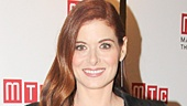 Outside Mullingar star Debra Messing looks stunning on opening night.