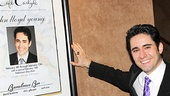 John Lloyd Young poses with his Cafe Carlyle poster.