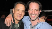 Former Lucky Guy co-stars Tom Hanks and Danny Mastrogiorgio.