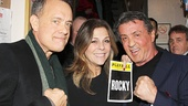 Tom Hanks, Rita Wilson and Sylvester Stallone.