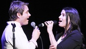 "If/Then co-stars James Snyder and Idina Menzel belt ""Here I Go."""