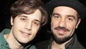 Broadway newcomers Andy Mientus (Marius) and Ramin Karimloo (Jean Valjean) strike a pose.