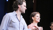 Bridges headliners Steven Pasquale and Kelli O'Hara gaze out into the cheering crowd.