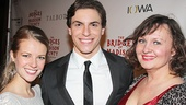Bridges players Whitney Bashor and Jennifer Allen flank Derek Klena.