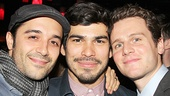 Frankie J. Alvarez, Raul Castillo and Jonathan Groff make an adorable threesome.