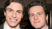 Stage studs Derek Klena and Jonathan Groff catch up at the party.